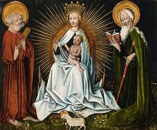 Probably Bohemian School ca. 1430/1440, The Virgin with Saint Peter and Saint Paul