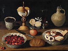 Georg Flegel, circle of, Still Life with Cherries and Biscuits