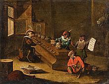 Flemish School late 17th century, The Cat Organ
