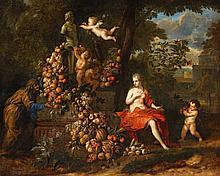 Jan Pauwel Gillemans the Younger, Vertumnus and Pomona, an Allegory of Autumn