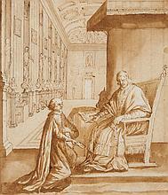 Italian School 17th century, An Audience with a Cardinal of the Chigi Family