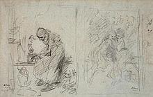Ludwig Knaus, TWO SKETCHES FOR PAINTINGS
