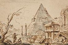 Jean-Baptiste Lallemand, A Capriccio of Ruins