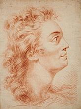 French School 18th century, Study of a Male Head