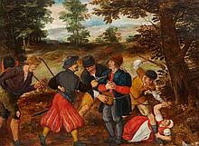 Flemish School 17th century, A Robbery on a Country Road