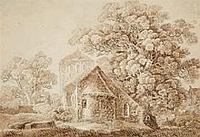 German Master 18th century, Landscape with a Chapel