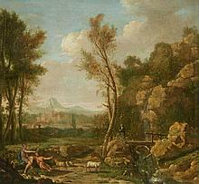 French School 18th century, A Southern Landscape