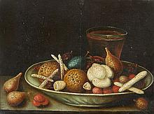 Georg Flegel, circle of, Still Life with Almonds, Sweetmeats and Drinking VesselsStill Life with Figs, Sweetmeats and a Wine Glass