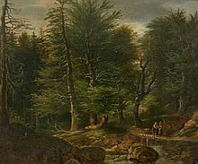 Karl Ludwig Seeger, A Wooded Landscape with a Peasant Family