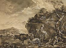 Netherlandish School 18th century, Landscape with Shepherds