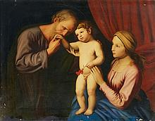 German School 19th century, The Holy Family