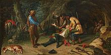 German School 19th century, The Robbery in the Woods