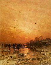 Ludwig Munthe, An Evening Winter Landscape