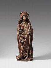 An Ulm carved limewood figure of St. Sebastian, circa 1500.