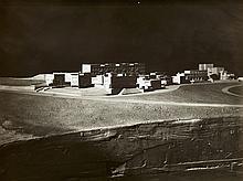 Bauatelier Ludwig Mies van der Rohe, Modell der Weißenhof-Siedlung, Ansicht von Südosten, 1927