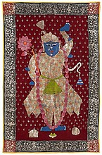 A Rajasthani pichvai showing Shri Nathji. 20th century