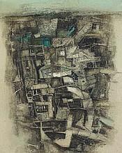 An oil painting by Ram Kumar (born 1924)