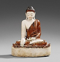 A Mandalay alabaster figure of Buddha. Burma. 20th century