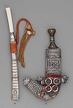 A steel dagger in a sheath. 19th century