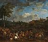Jasper Broers , Cavalry Battle by a Village