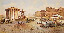 Ettore Roesler Franz , The Temple of Vesta in Rome