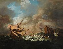 Bonaventura Peeters, attributed to, Sailing Ships in a Storm