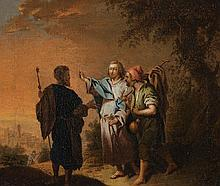 Johann Conrad Seekatz, attributed to, Christ on the Road to Emmaus