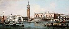 Antonio Canal, successor, View of the Doge's Palace and Piazzeta from the LagoonView of San Giorgio Maggiore from the Lagoon