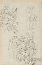 French school of the 18th century, Figure Studies