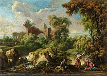 North Italian School of the 18th century, Landscape with Rest on the Flight into Egypt