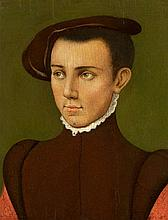 Netherlandish School of the 16th century, Young Man in a Brown Beret before a Dark Background