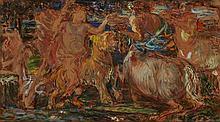 Philipp Otto Schäfer, Mythological Scene with a Centaur and Dionysos (?)