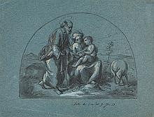Eduard Bendemann, The Holy Family in a Landscape