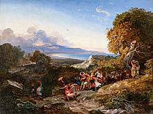 Friedrich Nerly, A Wine-Grower's Parade on Monte Circello