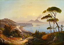 August Wilhelm Ahlborn, View of the Gulf of Naples
