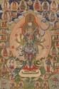 A Bön-thangka of Künzang Gyalwa Gyatso. Tibet. Late 19th/20th century