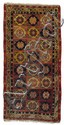 A Yarkand wool carpet. Ost-Turkestan. Early 20th century