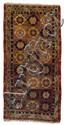 A Yarkand wool carpet. Ost-Turkestan. Early 20th century