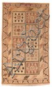 A Khotan wool carpet . Around 1900