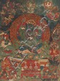 A Thangka of Kakanama-Mahakala in 'yab-yum'. Southern Tibet. Ca. 17th century