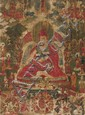 A 'thangka' of a Nyingmapa-Lama. Tibet. Ca. 18th century