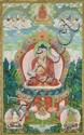A Sino-Tibetan thangka of Buddha Shakyamuni, Qianlong period, probably 1779/1780