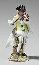 A Frankenthal porcelain figure of a violin player