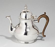 A George I London silver teapot. Marks of John Pero, 1718.