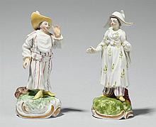 Two Frankenthal porcelain Chinese figures