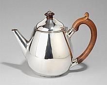 A George IV London silver teapot. Marks of Paul Storr, 1828.