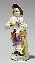 A Frankenthal porcelain figure of a young mower