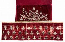 Two English or Rhenish silk embroidered antependia