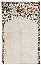 An Uzbek embroidered suzani mihrab