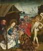 UPPER RHINE-REGION, circa 1490/1500, ADORATION OF THE MAGI  DEATH OF THE VIRGIN, oil on panel, 55 x 46 cm each